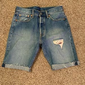Levi's 501 Fit  Ripped Jean Shorts